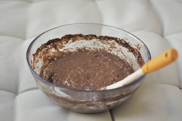 Romanian brownie batter