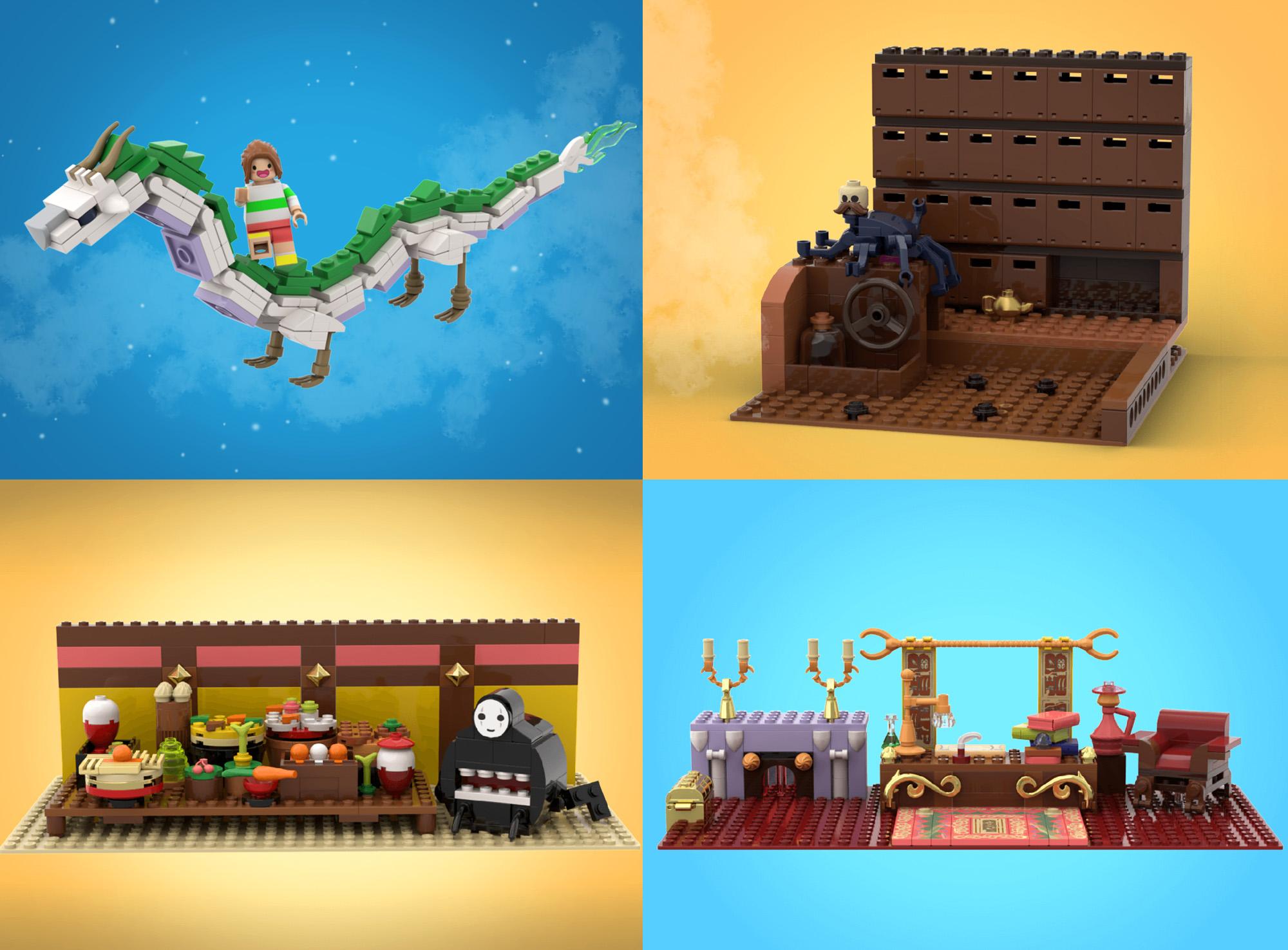 ジブリ名作『千と千尋の神隠し』がレゴアイデア製品化レビュー進出!2020年第3回1万サポート獲得デザイン紹介