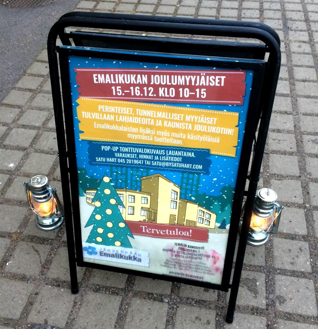 Rouva Sanan joulu, Emalikukan joulumyyjäiset, Emalikukka, Järvenpää