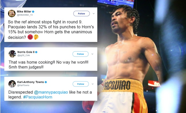 Kobe Bryant, other NBA, NFL Players and celebrities react on Pacquiao's Loss