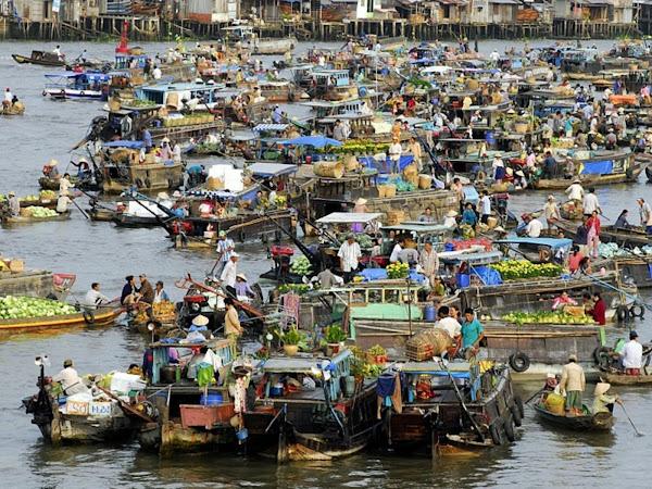 El Mercado flotante Cai Rang - Can Tho - Vietnam