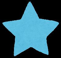 星のイラスト(水色)