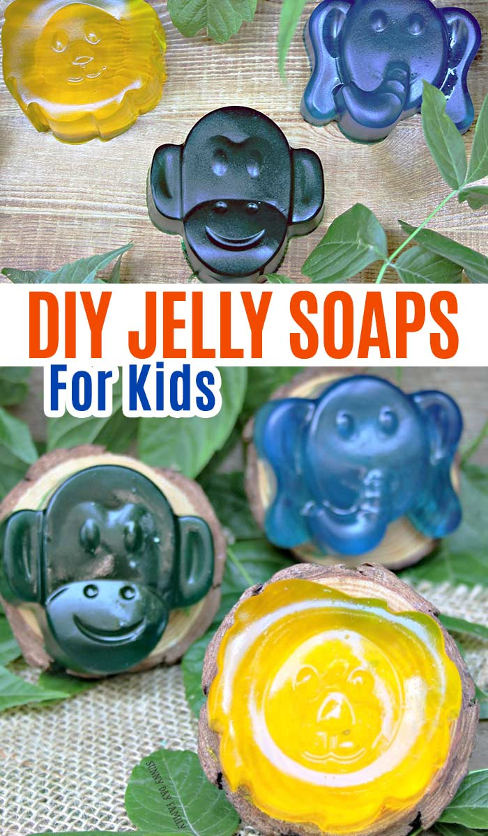 Homemade jelly soaps for kids! Soap jellies for kids with essential oils. DIY soap project with essential oils for kids. DIY shower jellies. Perfect handmade gift idea! #soap #homemade #forkids #essentialoils #DIY