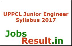 UPPCL Junior Engineer Syllabus 2017