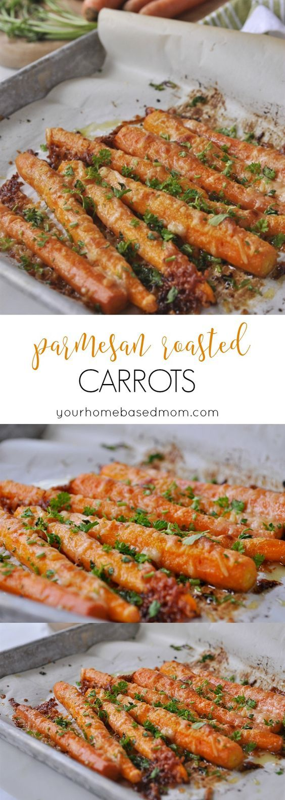 Parmesan Roasted Carrots Recipe