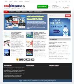 New Jhony Wuss v 2. Updated Blogger template