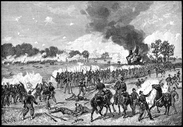 drawing of battle of Manassas from USHistoryImages.com