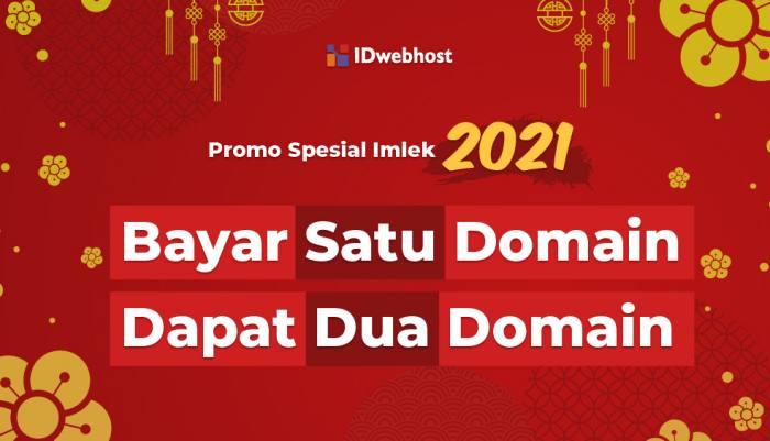 Promo Imlek 2021 Bayar 1 Domain Dapat 2 di idwebhost