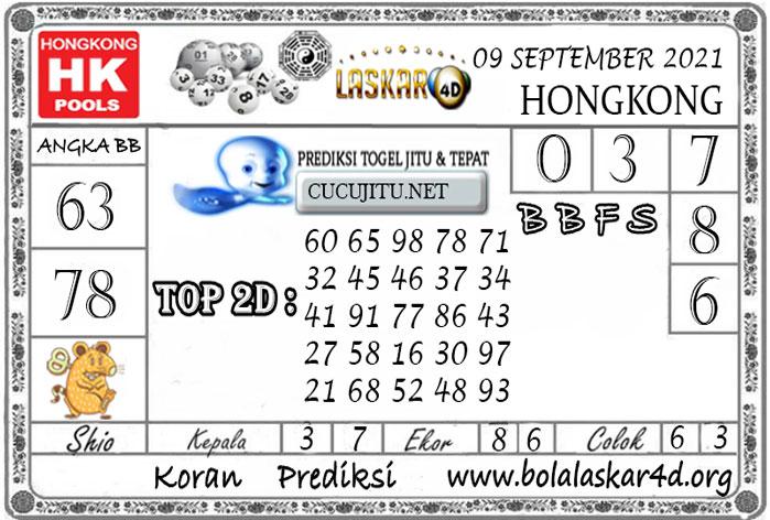 Prediksi Togel HONGKONG POOLS LASKAR4D 09 SEPTEMBER 2021