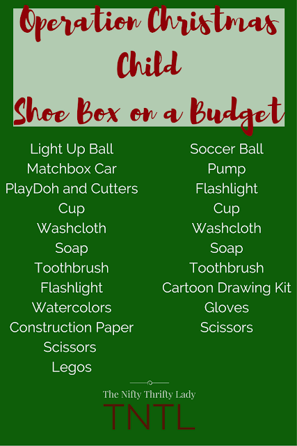 Packing an Operation Christmas Child Shoe Box on a Budget