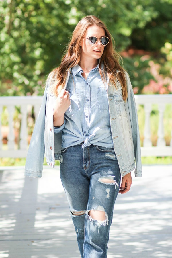 Denim on Denim Outfit