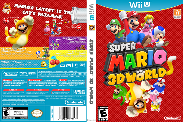 Super Mario 3D World Wii U Game Cover