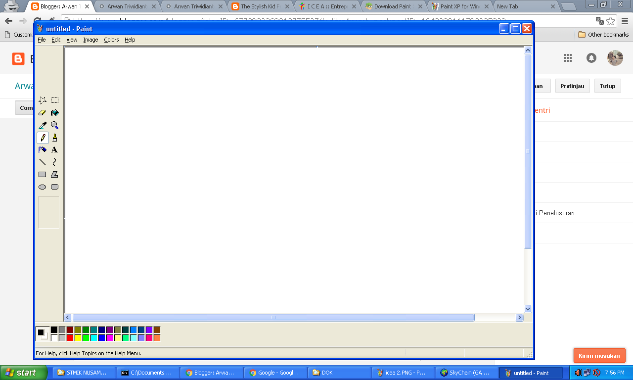 Screenshot atau Print Screen di Windows menggunakan paint
