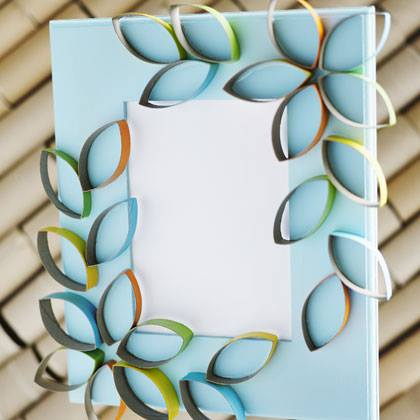 Cardboard Petal Picture Frame
