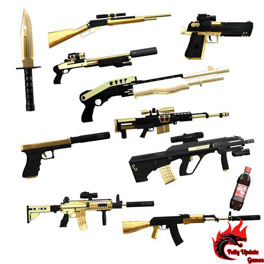 GTA San Golden Weapon Pack With Double Hand Mod