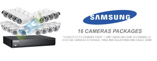 Paketr Pasang 16 Camera CCTv Samsung
