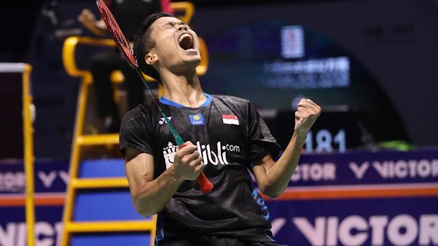 Atlet Anthony Sinisuka Ginting Lolos Ke Perempat Final Japan Open 2019