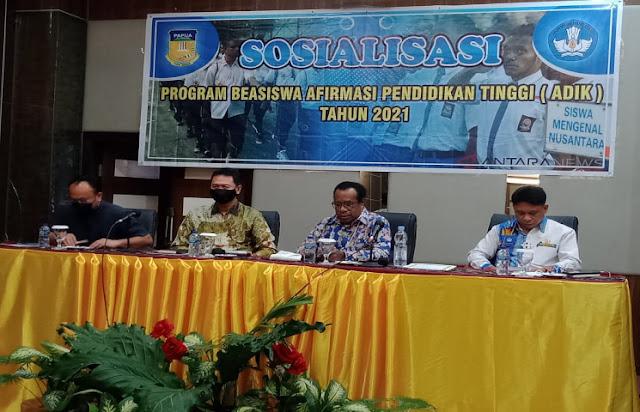 Pemprov Papua Kembali Selenggarakan Sosialisasi Program Afirmasi Pendidikan Tinggi 2021