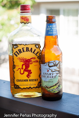 Angry Balls cocktail, hard apple cider, angry orchard, fireball whisky, cinnamon whisky