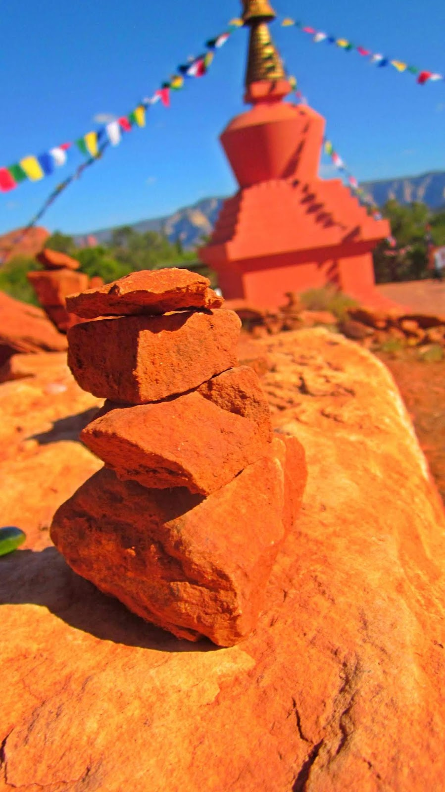 The Stupa of Sedona, Arizona Red Rock Buddhist Temple in the Desert For Prayer and Worship