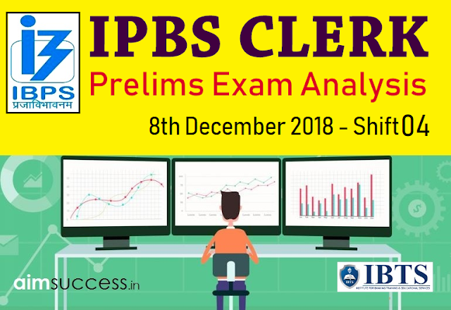 IBPS Clerk Prelims Exam Analysis & Review 2018: 8th Dec Shift 4