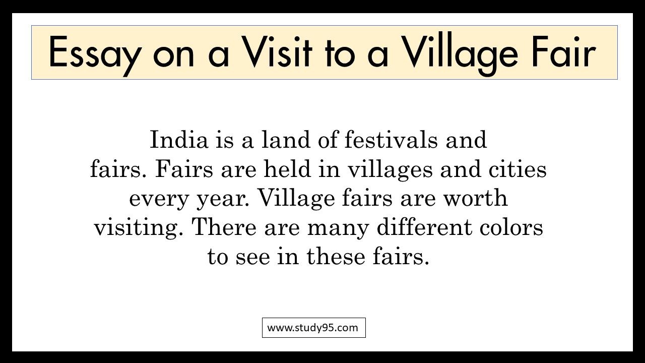 Paragraph on A Visit to a Village Fair