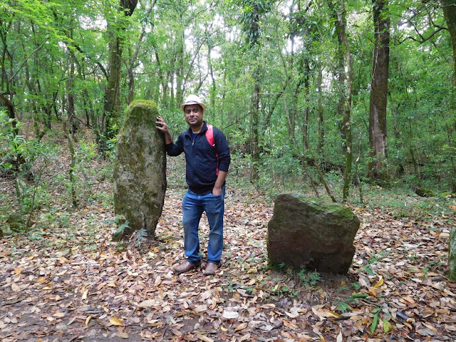 Monoliths inside the Mawphlang Sacred Forest, Meghalaya