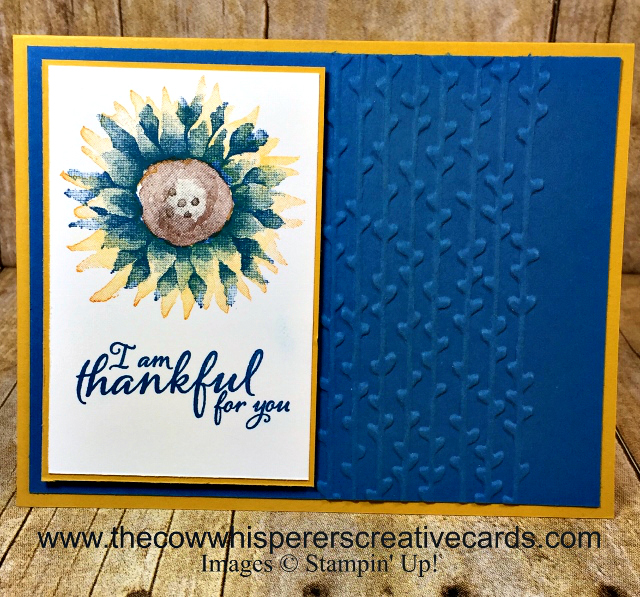 Card, Painted Harvest, Petal Paire Embossing Folder