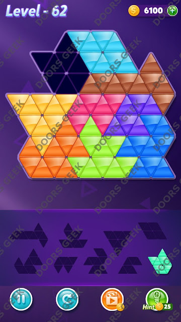 Block! Triangle Puzzle Proficient Level 62 Solution, Cheats, Walkthrough for Android, iPhone, iPad and iPod