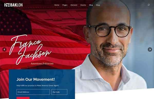 Baklon Best Political WordPress Themes 2020