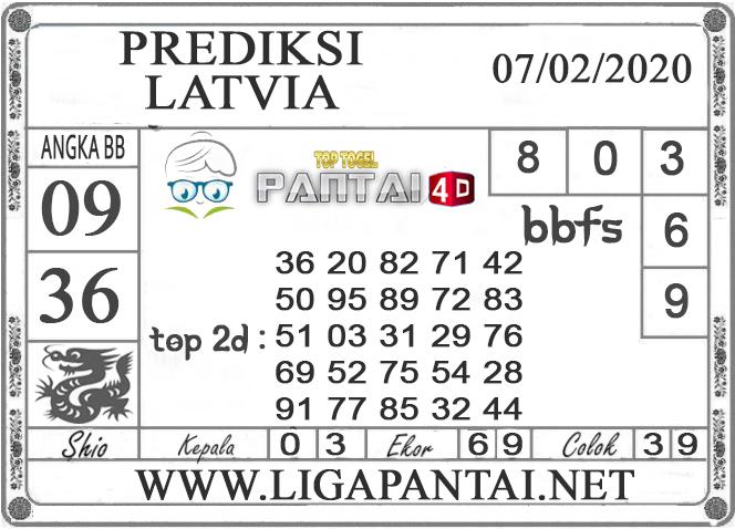 PREDIKSI TOGEL LATVIA PANTAI4D 07 FEBRUARI 2020
