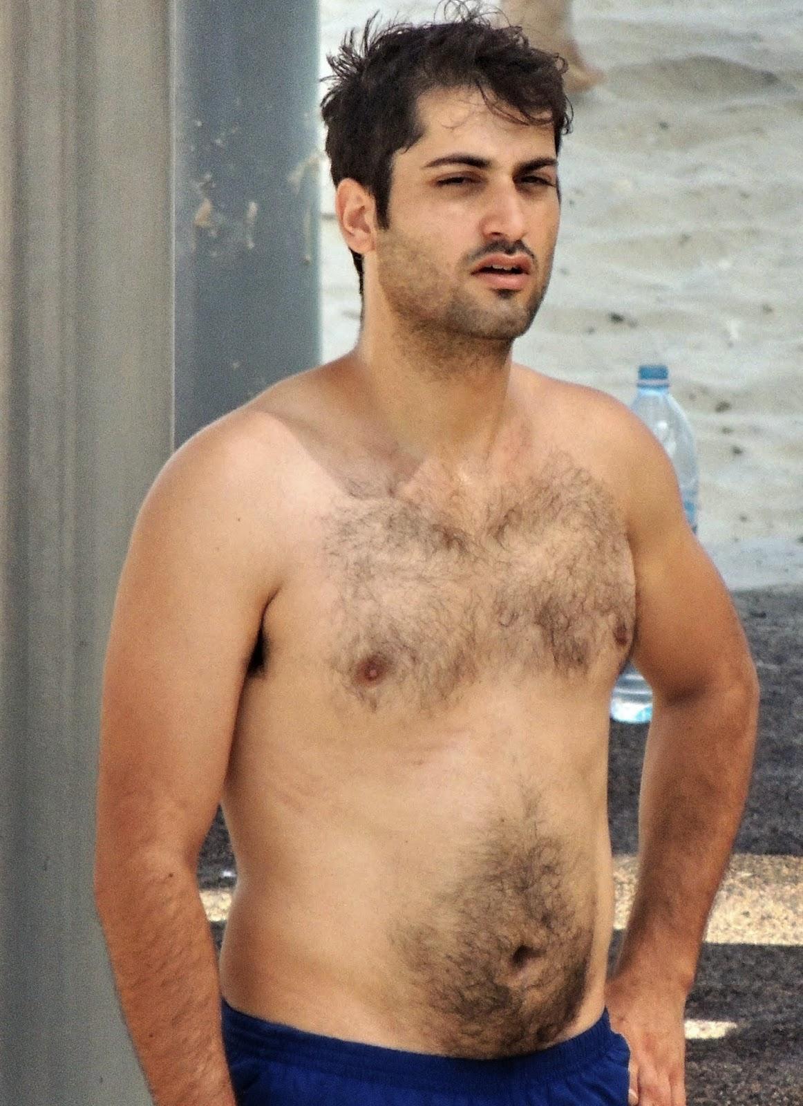 Hairy chested men naked