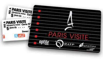 Paris Visite travel card metro pass