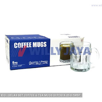 KEDAUNG/ KIG - GELAS SET COFFEE & TEA MUGS (6 PCS) K-25/6-1WBP