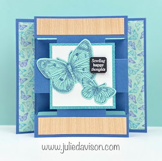 VIDEO: Stampin' Up! Butterfly Bouquet ~ Butterfly Bijou Tower Cards + Templates & Tutorial ~ www.juliedavison.com #stampinup