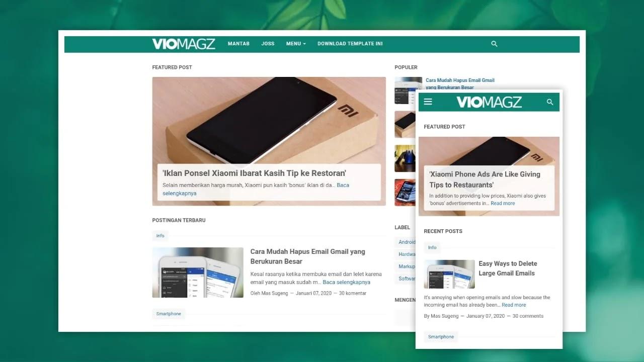 VioMagz Blogger Template v4.6.0