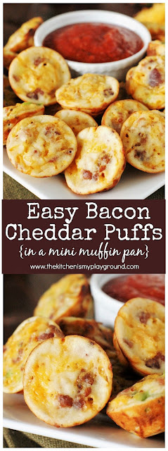 Bacon Cheddar Puffs for After School Snacks image