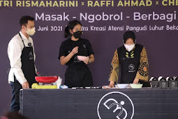 Tri Rismaharini Cerita Perjuangan Raffi Ahmad dan Chef Renatta Raih Sukses