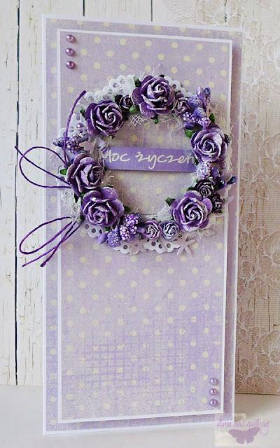 kartka w fioletach