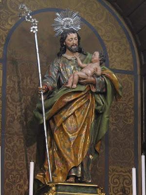 Imagen de San José con el niño Jesús