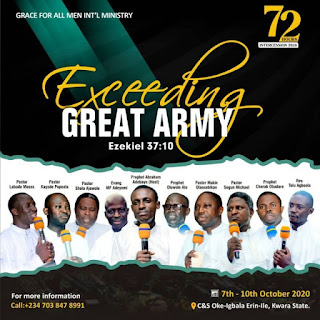 Exceeding Great Army ( All 72 Hours Intercession 2020 Messages) Pastor Kayode Popoola,Pastor Segun MIchael,Prophet Oluwole Alo,Rev'd Toluwalogo Agboola,Pastor Shola Ajewole,Pastor Makin Olaosebikan,Prophet Cherub Obadare,Prophet Labade Moses,Prophet Abraham Adebayo,