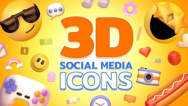 Filmstocks 3D Social Media Icons Pack | Filmora 9 Collection