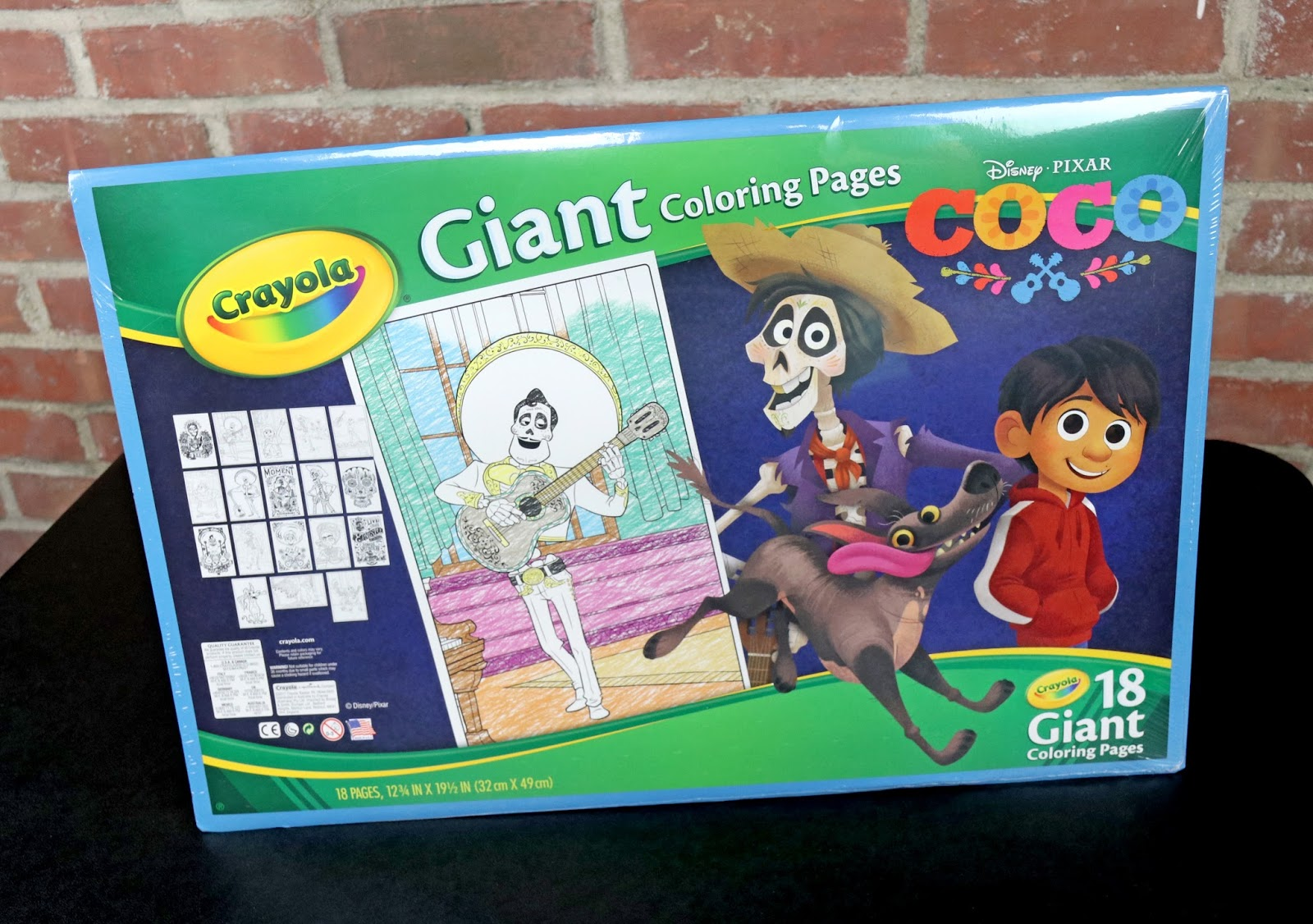 dan the pixar fan coco crayola giant coloring book