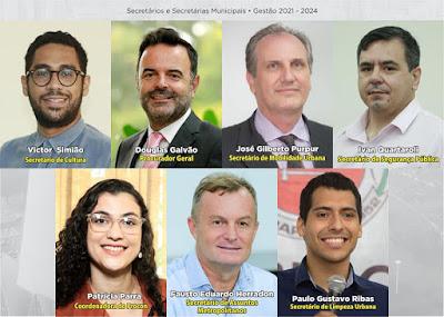 Alguns dos nomes escolhidos pelo prefeito Ulisses Maia para o 1º escalão