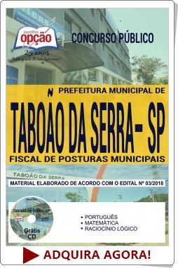 Apostila Prefeitura de Taboão da Serra 2018 Fiscal de Posturas Municipais
