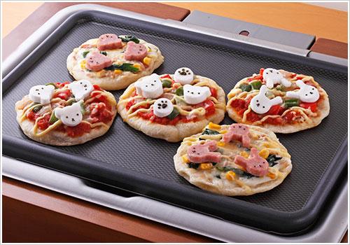 ホットプレートで作るキッズピザ