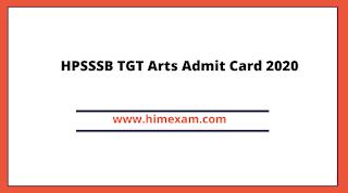 HPSSSB TGT Arts Admit Card 2020