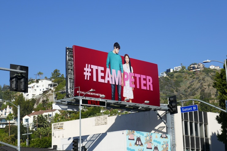 To All The Boys 2 movie #TeamPeter billboard