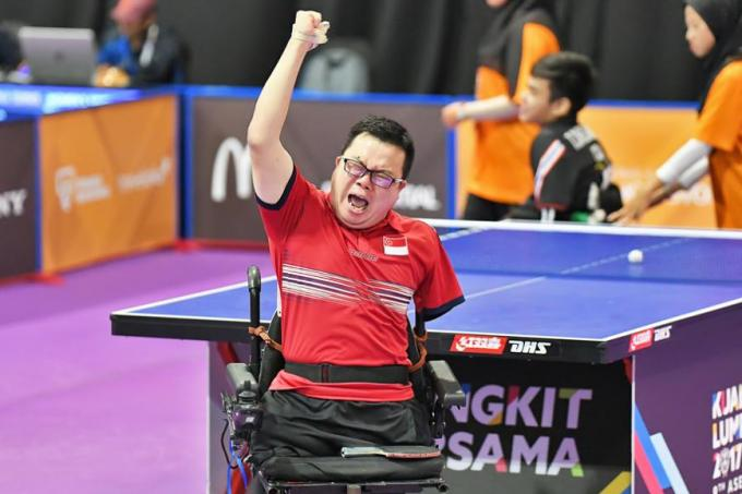 Para-paddler Jason Chee says his gold medal is a message to all Singaporeans to keep fighting.