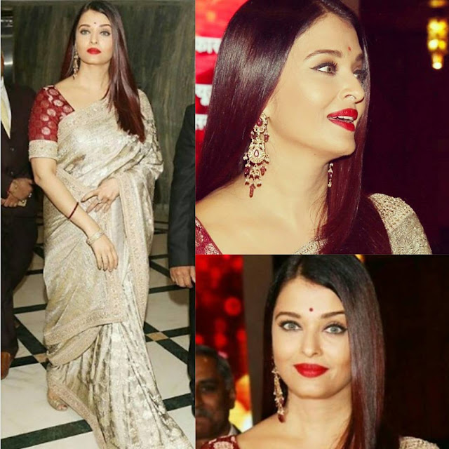 Aishwarya Rai in Sabyasachi for Women Achievers Event